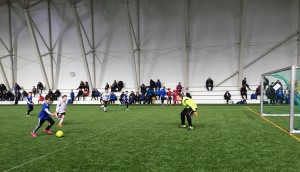 Flotte forhold for fotball i SKS Arena på Fauske. Her fra turneringen 4. til 6. mars 2016