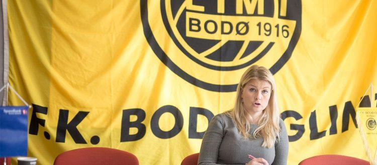 Hege Leirfall Ingebrigtsen, styreleder FK Bodø/Glimt 2017. Foto: Per-Inge Johnsen.