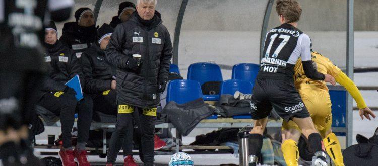 Arne Erlandsen var ingen blid og positiv mann på Aspmyra søndag 11. mars. Foto: Per Inge Johnsen.