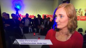 Bilde tatt fra TVen valgnatta.
