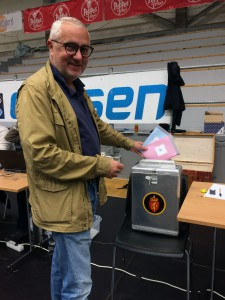 Da er mine stemmer gitt. Foto: Anne Marie Bjørgeengen. :)