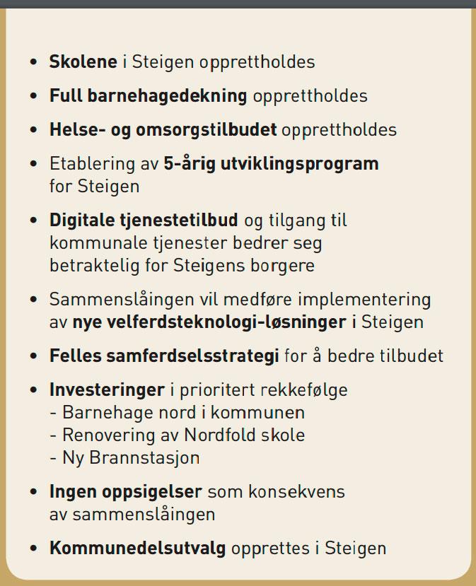 Dette betyr en sammenslåing for innbyggerne i Steigen kommune.