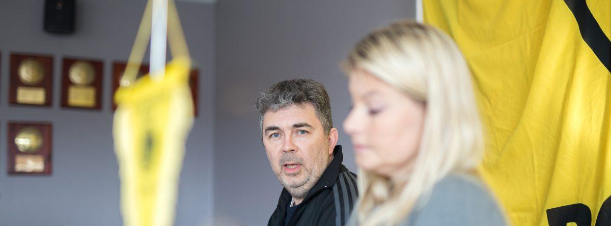 Frode Thomassen og Hege Leirfall Ingebrigtsen. Foto: Per-Inge Johnsen.